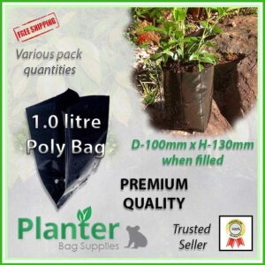1 litre poly planter bag plant Growbag PB3/4 - Planter Bag Supplies NZ - for more info go to planterbags.co.nz
