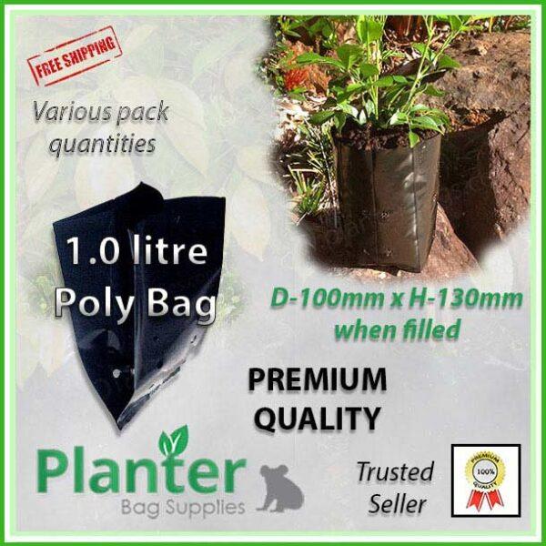 1 litre poly planter bag plant Growbag PB3/4 - Planter Bag Supplies NZ - for more info go to planterbags.co.nz