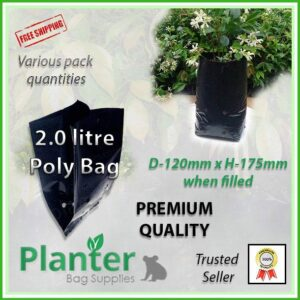 2 litre poly planter bag plant Growbag PB3 - Planter Bag Supplies NZ - for more info go to planterbags.co.nz