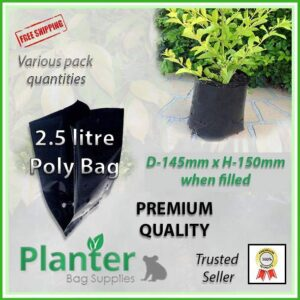 2.5 litre poly planter bag plant Growbag - Planter Bag Supplies NZ - for more info go to planterbags.co.nz