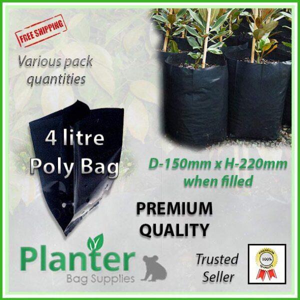 4 litre poly planter bag plant Growbag - Planter Bag Supplies NZ - for more info go to planterbags.co.nz