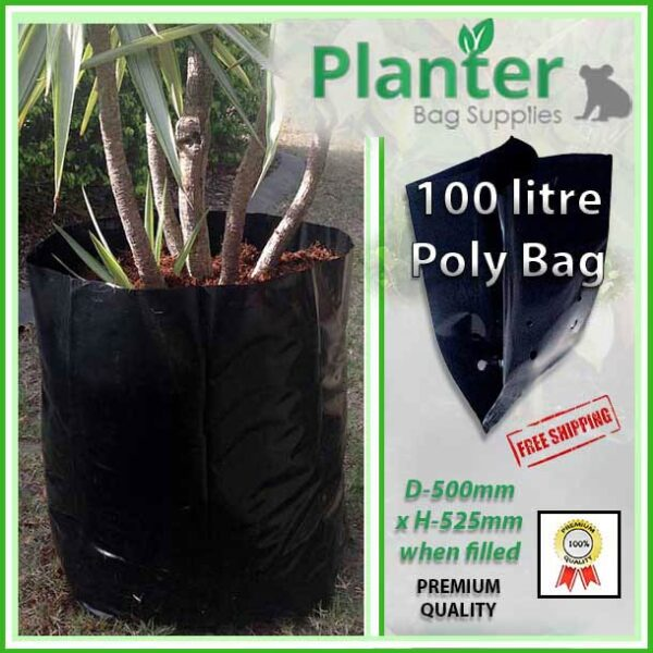 100 litre Poly Planter bag plant Growbag - Planter Bag Supplies NZ - for more info go to planterbags.co.nz
