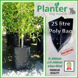 25 litre Poly Planter bag plant Growbag PB40 - Planter Bag Supplies NZ - for more info go to planterbags.co.nz