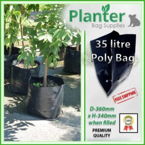 35 litre Poly Planter bag plant Growbag PB60 - Planter Bag Supplies NZ - for more info go to planterbags.co.nz