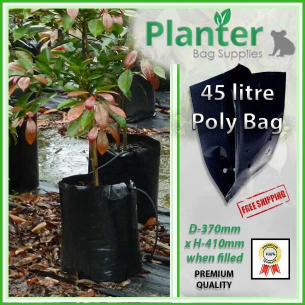 45 litre Poly Planter bag plant Growbag PB95 - Planter Bag Supplies NZ - for more info go to planterbags.co.nz