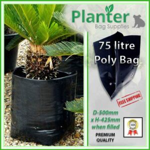75 litre Poly Planter bag plant Growbag - Planter Bag Supplies NZ - for more info go to planterbags.co.nz