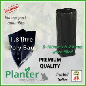 1.8 litre tall poly planter bag plant Growbag - Planter Bag Supplies NZ - for more info go to planterbags.co.nz