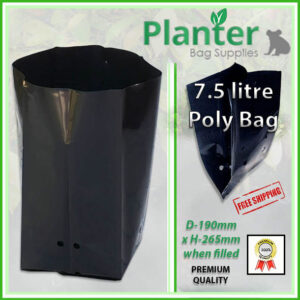 7.5 litre Standard Poly Planter bag plant Growbag PB12 - Planter Bag Supplies NZ - for more info go to planterbags.co.nz