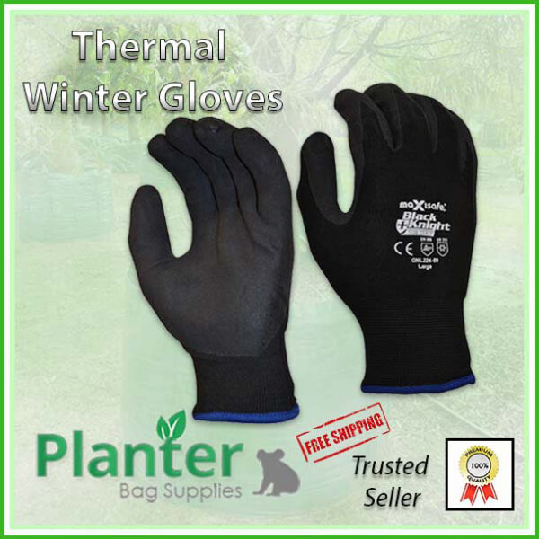 Gardening Thermal Winter Potting Gloves - for more info, go to planterbags.co.nz