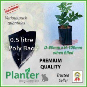 0.5 Litre Squat Poly Bag